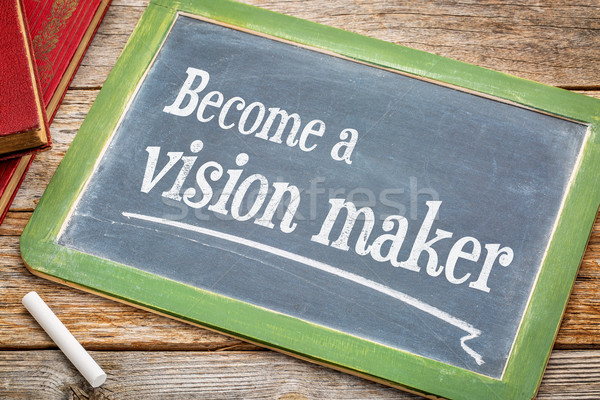 Stock photo: Become a vision maker on blackboard