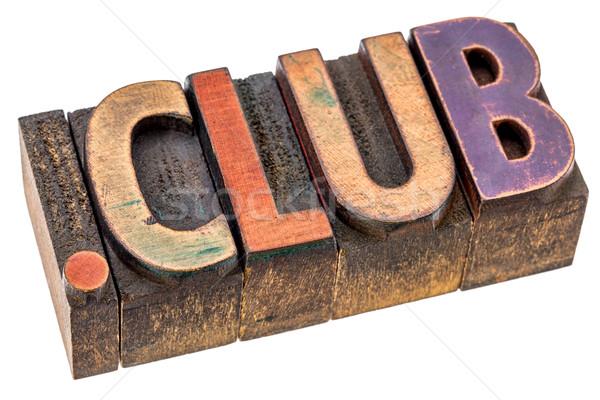 Club internet domein website vintage Stockfoto © PixelsAway
