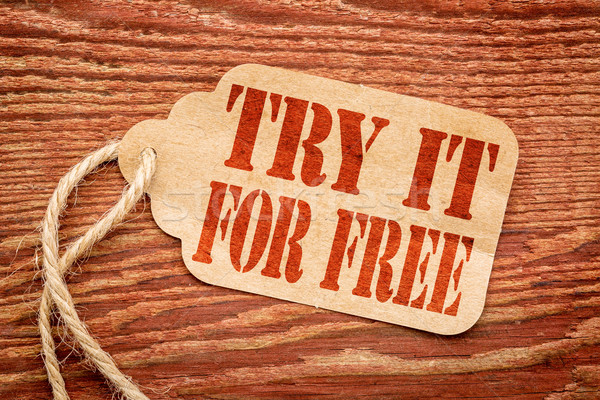 Try it for free on price tag Stock photo © PixelsAway