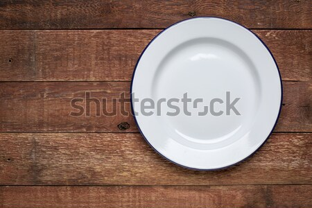 空っぽ 白 金属 エナメル プレート 素朴な ストックフォト © PixelsAway