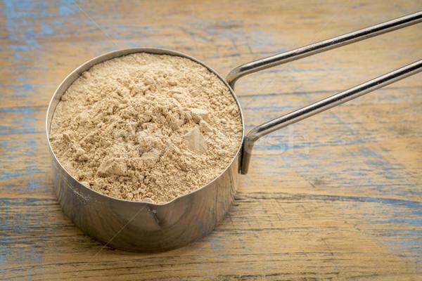 Stock photo: red maca root powder