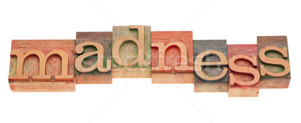 Follia parola tipo eccitazione Foto d'archivio © PixelsAway