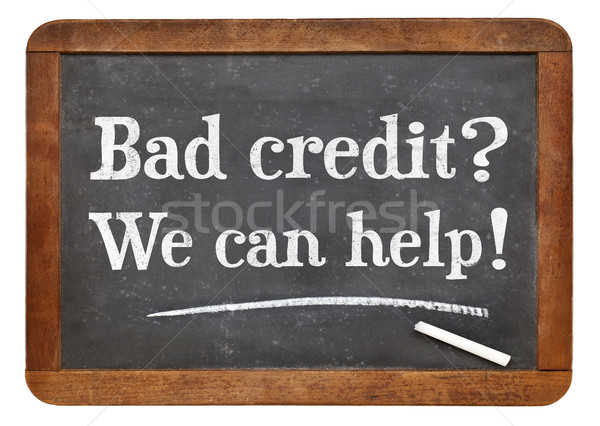 Bad credit? We can help! Stock photo © PixelsAway