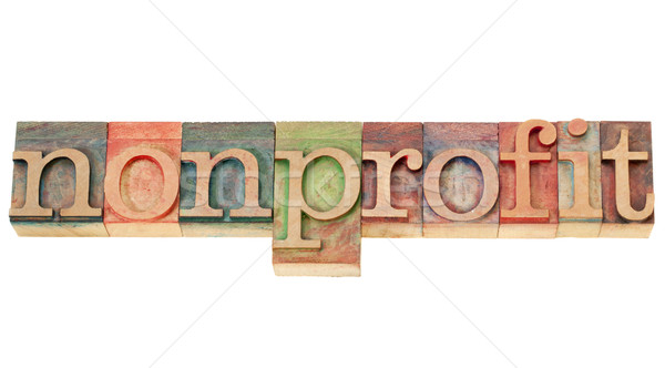 nonprofit word in letterpress type Stock photo © PixelsAway