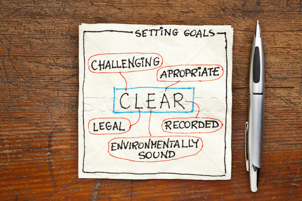 goal setting concept - CLEAR Stock photo © PixelsAway