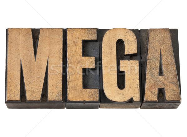 mega word in wood type Stock photo © PixelsAway
