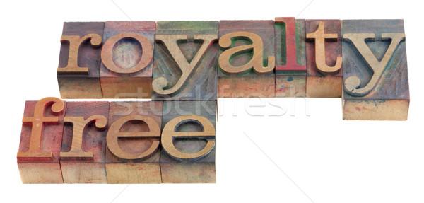 Jogdíjmentes szavak klasszikus fából készült magasnyomás nyomtatás Stock fotó © PixelsAway