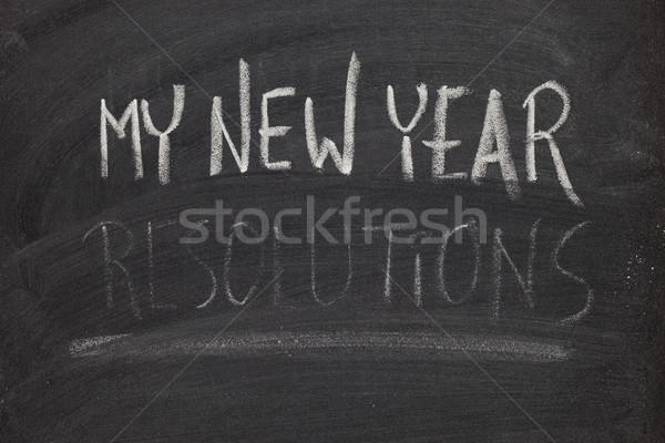 Año nuevo pizarra caer Foto stock © PixelsAway