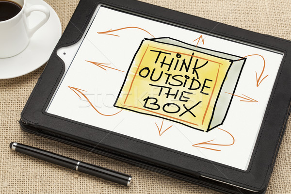 think outside the box concept Stock photo © PixelsAway