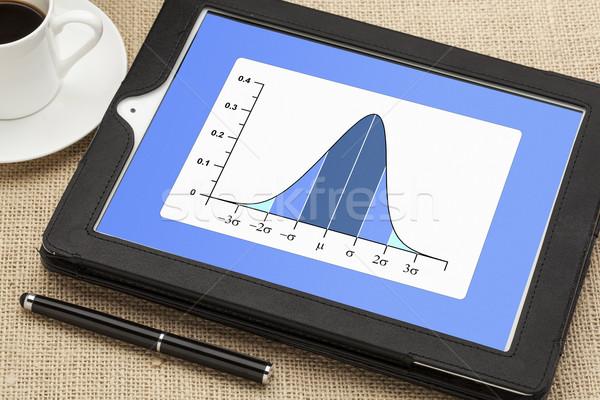 Harang grafikon normális disztribúció görbe digitális Stock fotó © PixelsAway