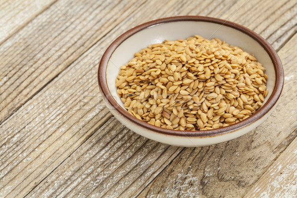 gold flax seeds Stock photo © PixelsAway