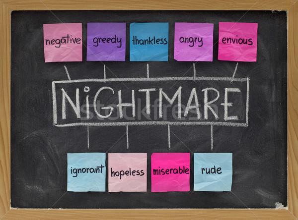 Cauchemar acronyme négatifs passions gourmand désespéré Photo stock © PixelsAway