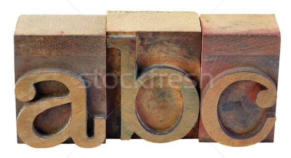 Első levelek ábécé klasszikus fából készült magasnyomás Stock fotó © PixelsAway