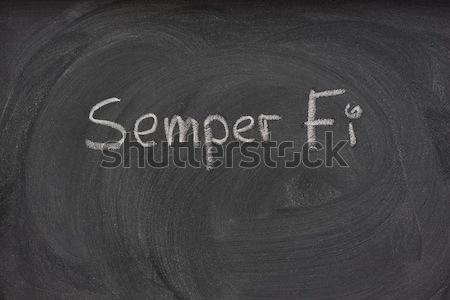 Szabad szöveg iskolatábla kézzel írott fehér kréta Stock fotó © PixelsAway