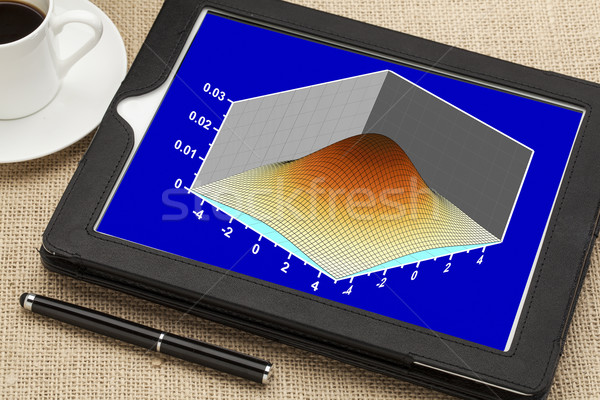 scientific graph on a tablet Stock photo © PixelsAway
