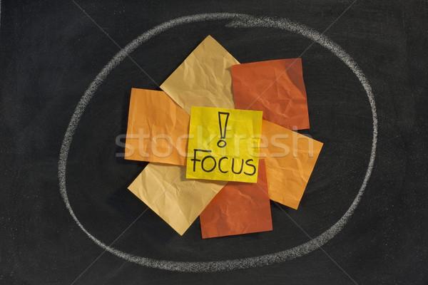 focus concept on blackboard Stock photo © PixelsAway