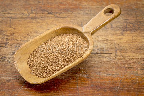 Graan schep rustiek houten glutenvrij grunge Stockfoto © PixelsAway