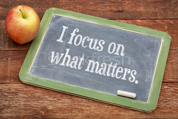 I focus on what matters Stock photo © PixelsAway
