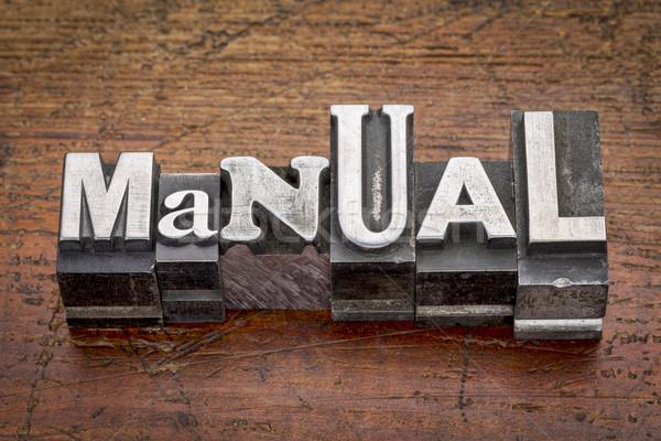 manual in metal type Stock photo © PixelsAway