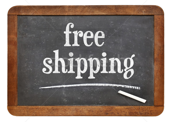 free shipping text on blackboard Stock photo © PixelsAway
