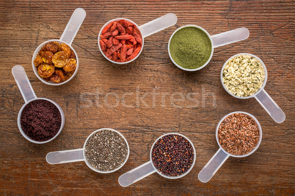 superfoods -  seed, berry, powder and grain Stock photo © PixelsAway