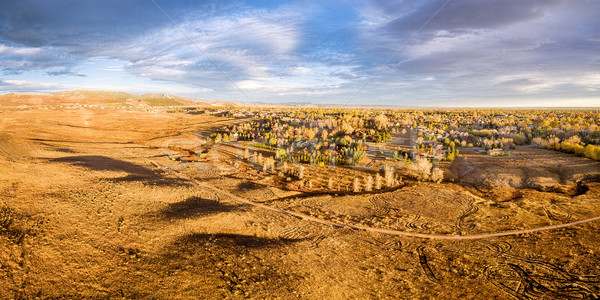 prairie at Colorado foothills - aerial panorama Stock photo © PixelsAway