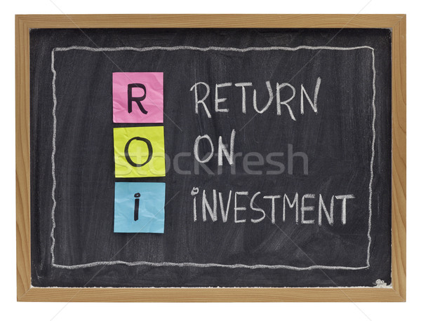 Stock photo: return on investment concept