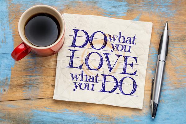 O que amor palavra abstrato motivacional guardanapo Foto stock © PixelsAway