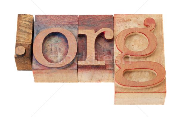 Organisatie internet domein vintage houten Stockfoto © PixelsAway