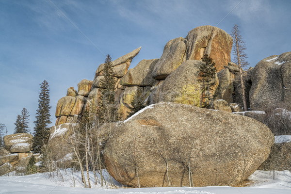 granite rock formation in Vedauwoo Recreation Area Stock photo © PixelsAway