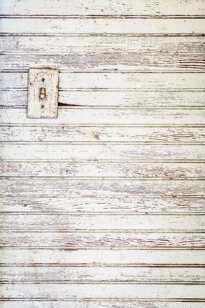 Grunge fehér festett fa fal elektromos Stock fotó © PixelsAway