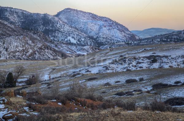 winter dusk at mountain valley Stock photo © PixelsAway