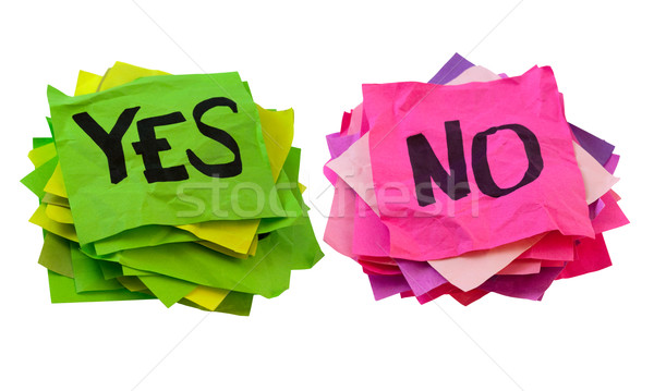 yes and no - voting, poll or survey concept Stock photo © PixelsAway