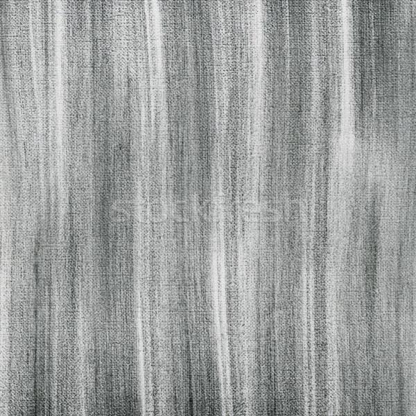 Fekete faszén absztrakt fehér művész vászon Stock fotó © PixelsAway