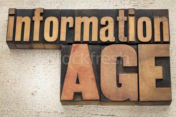 information age in wood type Stock photo © PixelsAway