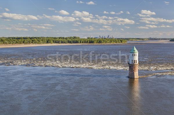 Mississipi nehir üzerinde zincir kayalar tarihsel Stok fotoğraf © PixelsAway