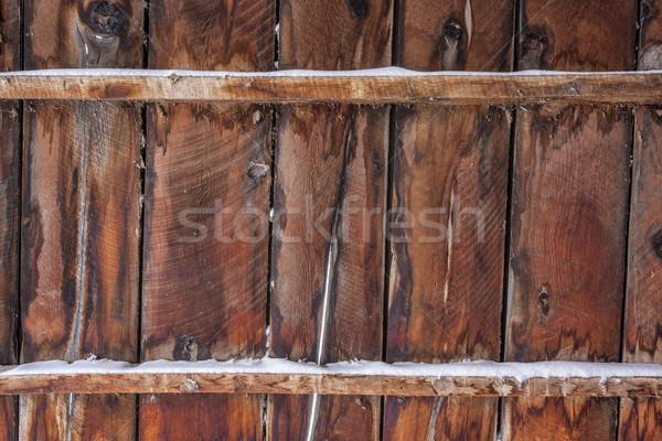 古い 納屋 木材 雪 壁 フェンス ストックフォト © PixelsAway