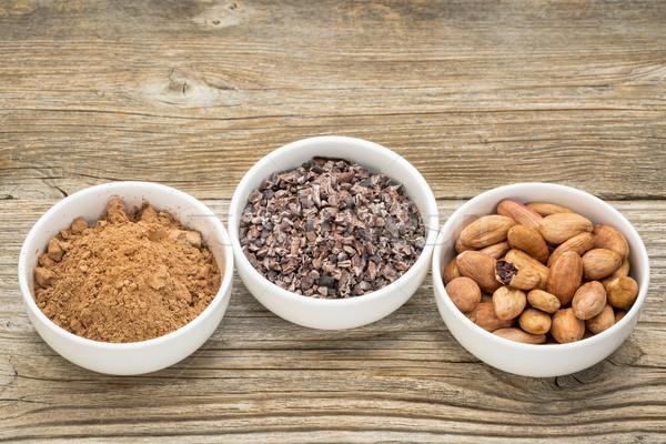 какао бобов белый керамической кегли Сток-фото © PixelsAway