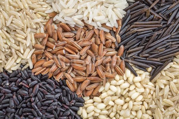 ストックフォト: コメ · 穀物 · 抽象的な · 6 · 穀類 · 異なる