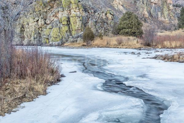 frozen river Stock photo © PixelsAway
