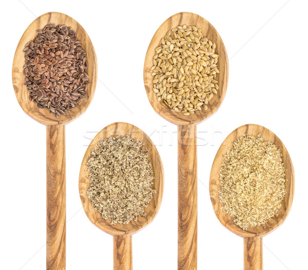 flax seed and meal Stock photo © PixelsAway