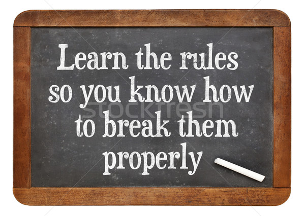 Learn and break rules Stock photo © PixelsAway