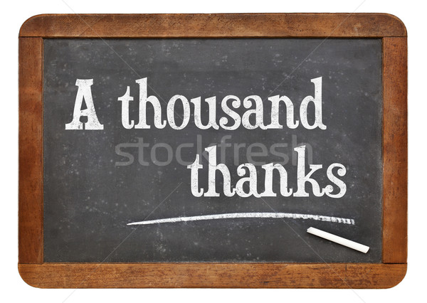 A thousand thanks on blackboard Stock photo © PixelsAway
