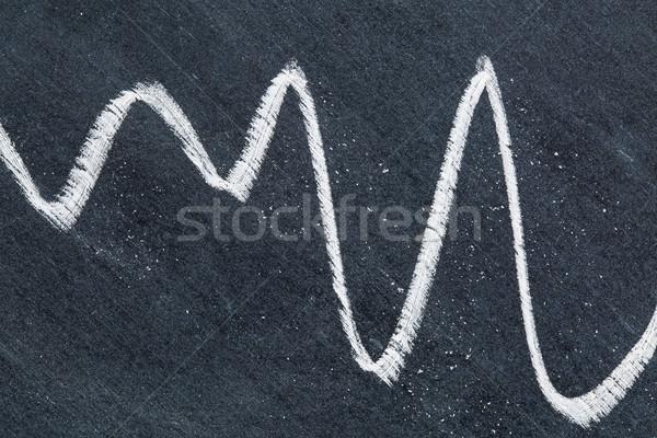 Stok fotoğraf: Tebeşir · soyut · beyaz · grafik · bağbozumu · siyah
