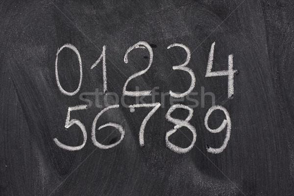 árabe numerais lousa dez branco Foto stock © PixelsAway
