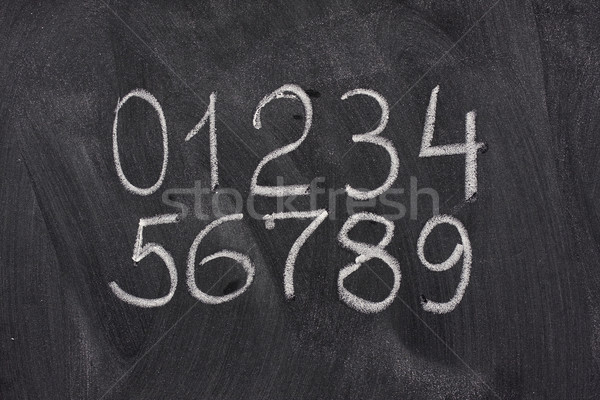 arabic numerals on a blackboard Stock photo © PixelsAway