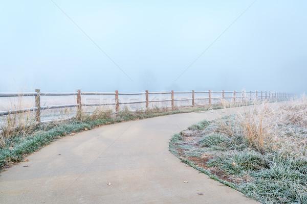 Noordelijk Colorado fiets parcours mist ochtend Stockfoto © PixelsAway