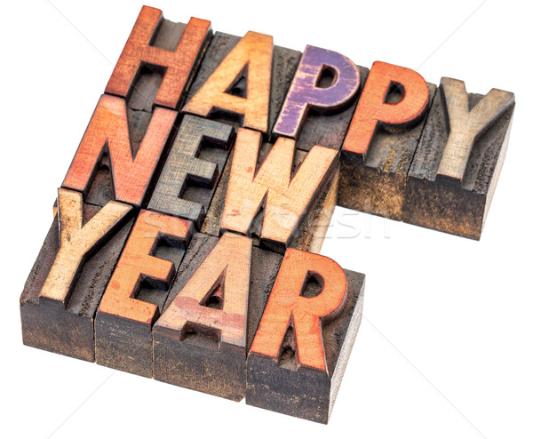 Happy New Year greeting card Stock photo © PixelsAway