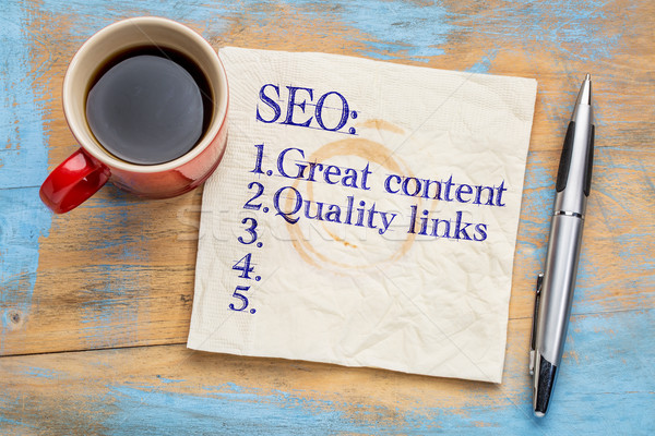 Great content and links SEO tips Stock photo © PixelsAway
