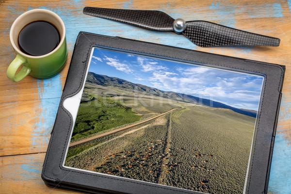 út szarvasmarha légifelvétel légi kép digitális Stock fotó © PixelsAway